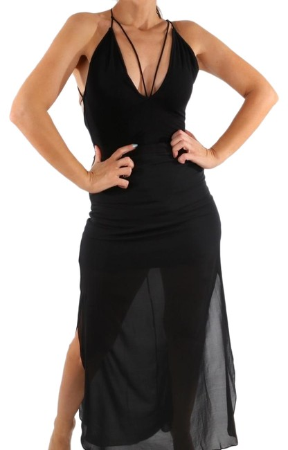 Preload https://img-static.tradesy.com/item/25523464/black-cut-out-front-and-sleeveless-bodysuit-romperjumpsuit-0-1-650-650.jpg