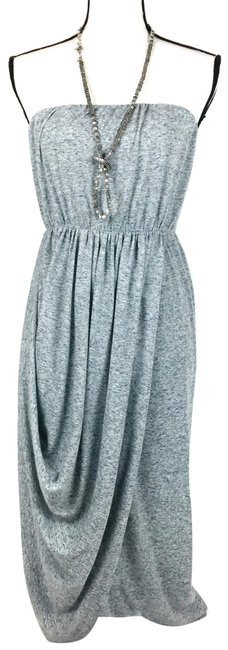 Item - Gray Jersey Strapless Mid-length Night Out Dress Size 0 (XS)