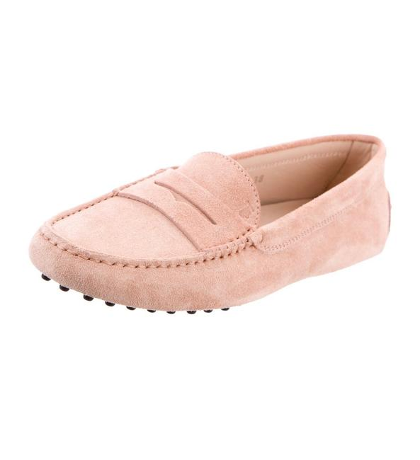 Item - Pink Suede Driving Loafers Flats Size US 8 Regular (M, B)