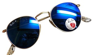 Ray-Ban Ray-Ban Rb3447 112/4L Round Metal 50MM Blue Flash Polarized Sunglass