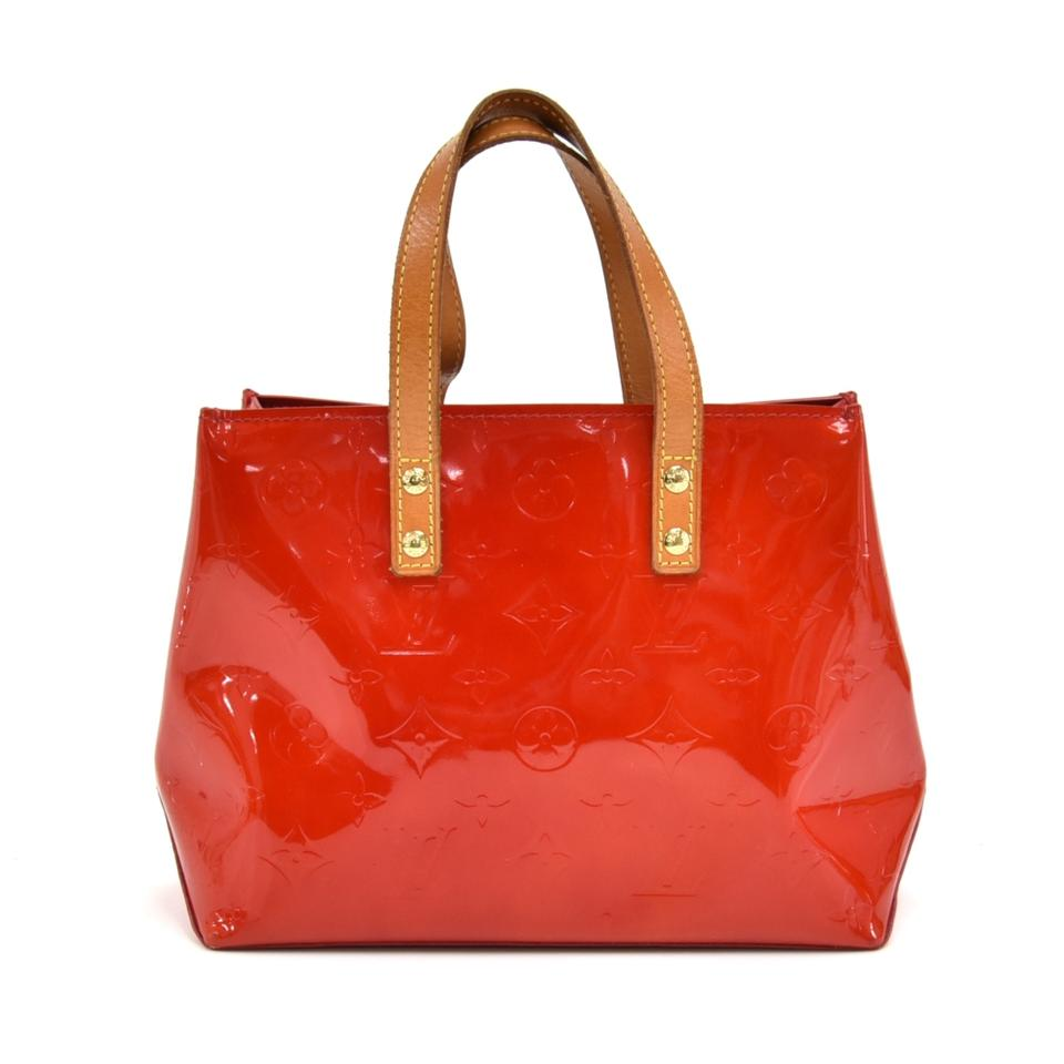 030edbb30 Louis Vuitton Reade Handbag Red Vernis Leather Tote - Tradesy
