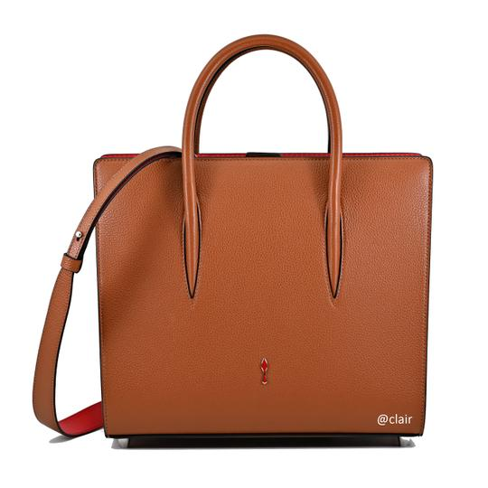 Christian Louboutin Satchel in Navy/ Coconut/ Natural Image 1