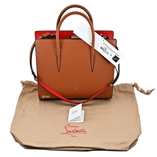 Christian Louboutin Satchel in Navy/ Coconut/ Natural Image 5