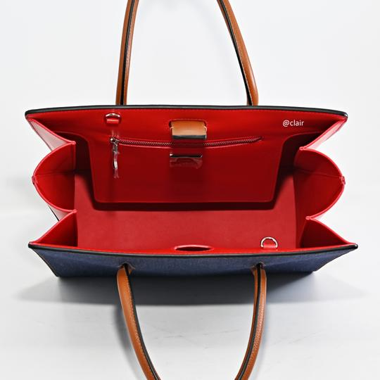 Christian Louboutin Satchel in Navy/ Coconut/ Natural Image 6