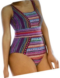 Gottex GOTTEX NEFERTITI 1 PIECE SQUARE NECK SWIMSUIT SZ 16 LIKE NEW