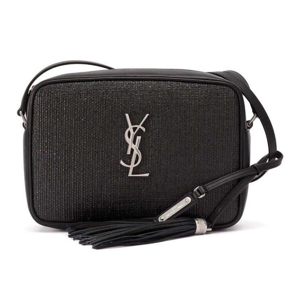 cf18a24cddb Saint Laurent Camera Ysl Lou In Black Lambskin Leather and Canvas ...