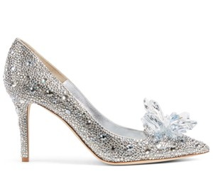 Sliver New Crystal Rhinestone Sparkly Bling Evening Bridal High Heels Pumps Size US 6 Regular (M, B)