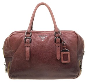 Prada Leather Ombre Satchel in Pink