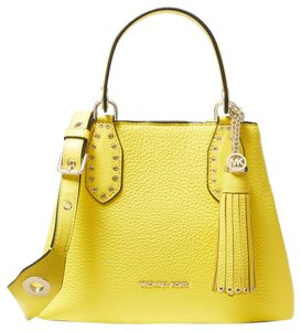 dbcb5608a Added to Shopping Bag. Michael Kors Leather 31s9lbnt1l Satchel in Sunshine. Michael  Kors Brooklyn Small ...