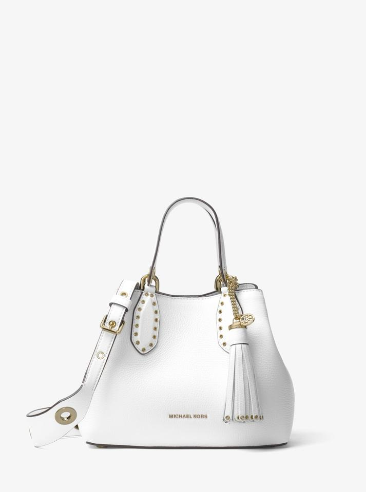 90eb816df Michael Kors Leather 31h7gbnt1l Satchel in Optic White Image 0 ...