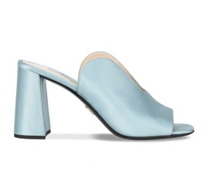 Prada Light Blue Mules
