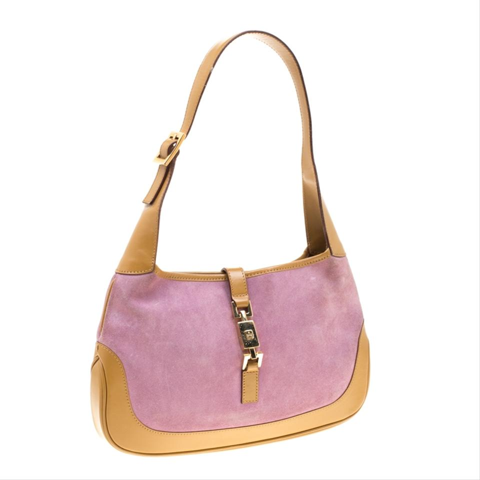 676b71d3b Gucci Hobo Jackie Brown/Purple and Leather Purple Suede Shoulder Bag -  Tradesy