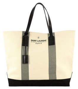 Saint Laurent Canvas Tote in white