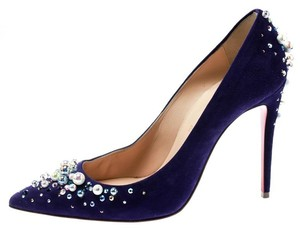 11dbdb9621 Christian Louboutin Pearl Pointed Toe Blue Pumps