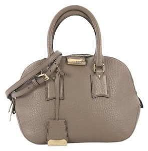 Burberry Orchard Leather Satchel in gray