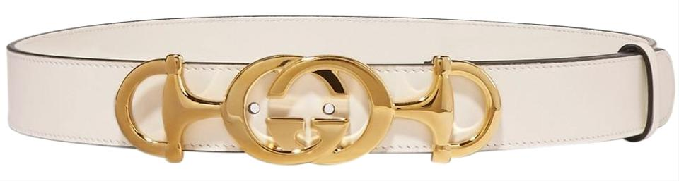 ea9a0b1d4 Gucci Brand New - Gucci Leather Belt with Interlocking G Horsebit - Size 65  Image 0 ...