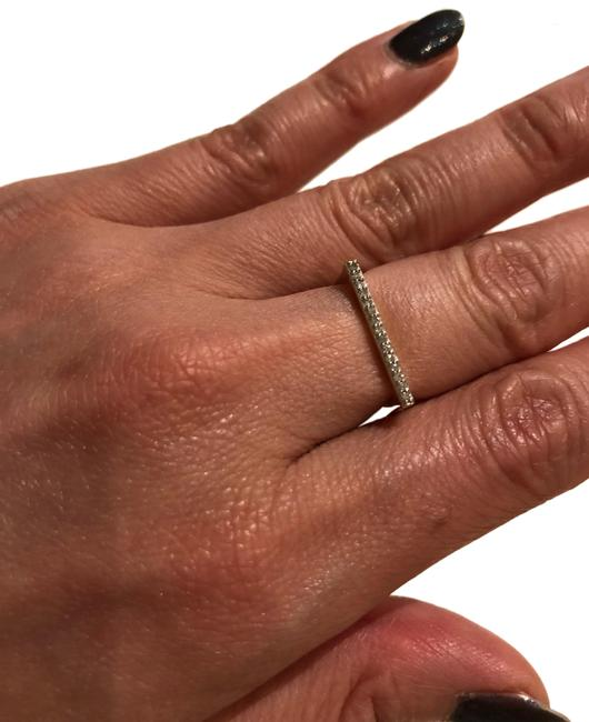 Item - Yellow Gold and Diamonds Pave Flat Bar Ring