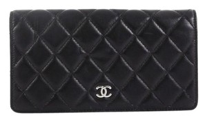 Chanel Quilted Lambskin Black Clutch