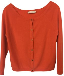 Tory Burch Cardigan Boatneck Logo Buttons Cashmere Sweater