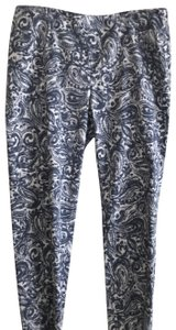 Peserico Straight Pants blue and white