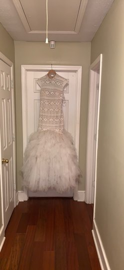 Off White Prom Traditional Wedding Dress Size 12 (L) Image 0