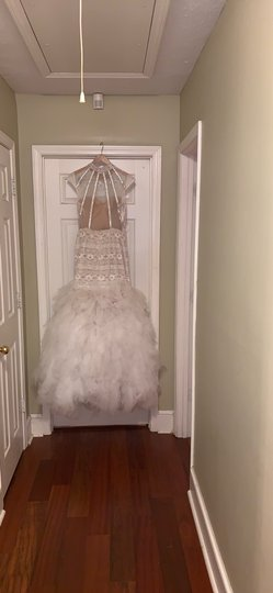 Off White Prom Traditional Wedding Dress Size 12 (L) Image 1