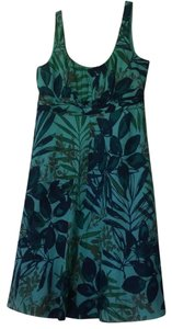 Evan Picone short dress turquoise green navy taupe on Tradesy