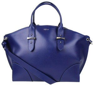 Alexander McQueen Legend Leather Handbag Satchel in Blue