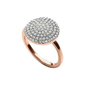 Michael Kors MKJ4104 Michael Kors Ring Rose Gold Tone Crystal Pave Disc
