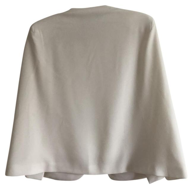 Item - White With Slits Poncho/Cape Size 4 (S)