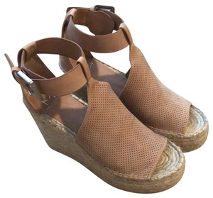 721c9b41f40 Marc Fisher Blush Annie Perforated Espadrille Wedges Size US 6.5 Regular  (M, B) 73% off retail