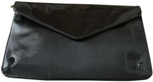 Aramis Faux Patent Faux Leather Hide Away Strap Ribbed Envelope Style Shoulder Bag
