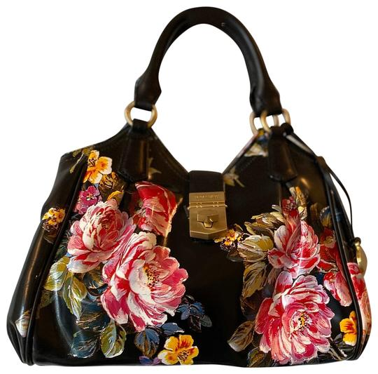 Preload https://img-static.tradesy.com/item/25527110/brahmin-elisa-mini-versailles-black-floral-leather-satchel-0-3-540-540.jpg