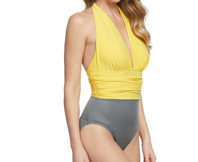 Miraclesuit Magicsuit by Miraclesuit Yves Sun Stone Halter One Piece Swimsuit Image 3
