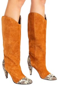 Jeffrey Campbell Tan Suede Combo Boots