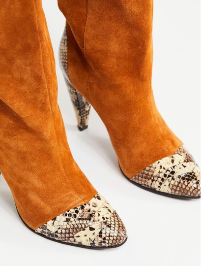 Jeffrey Campbell Tan Suede Combo Boots Image 2