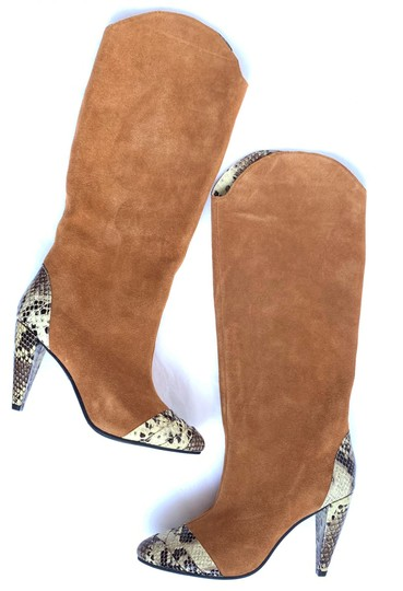 Jeffrey Campbell Tan Suede Combo Boots Image 4