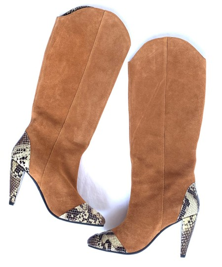Jeffrey Campbell Tan Suede Combo Boots Image 5
