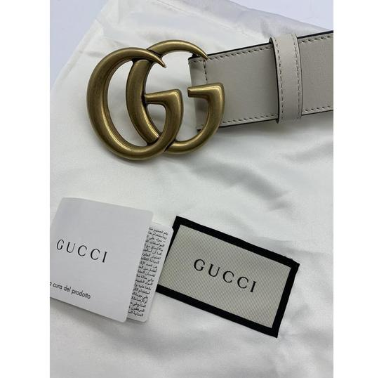 Gucci Gucci Marmont GG Leather Belt White 85 34 Image 10