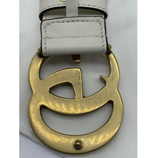 Gucci Gucci Marmont GG Leather Belt White 85 34 Image 11