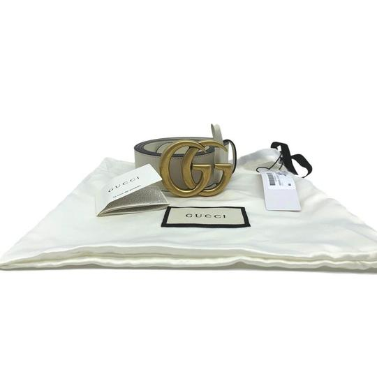 Gucci Gucci Marmont GG Leather Belt White 85 34 Image 3