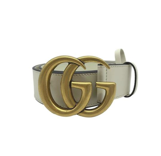 Gucci Gucci Marmont GG Leather Belt White 85 34 Image 4