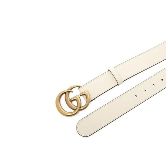 Gucci Gucci Marmont GG Leather Belt White 85 34 Image 5