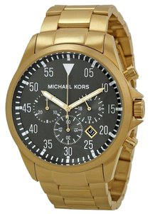 Michael Kors NEW MEN'S MICHAEL KORS (MK8361) GAGE GOLD TONE CHRONOGRAPH WATCH