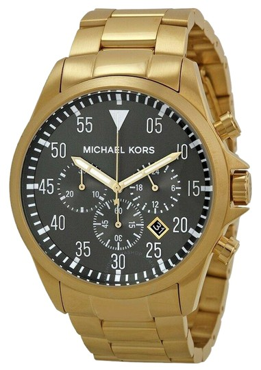 Preload https://img-static.tradesy.com/item/25527248/michael-kors-gold-new-men-s-mk8361-gage-tone-chronograph-watch-0-1-540-540.jpg