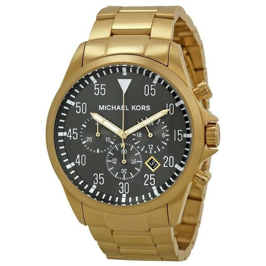 Michael Kors NEW MEN'S MICHAEL KORS (MK8361) GAGE GOLD TONE CHRONOGRAPH WATCH Image 1