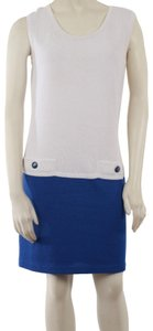 St. John short dress white blue on Tradesy