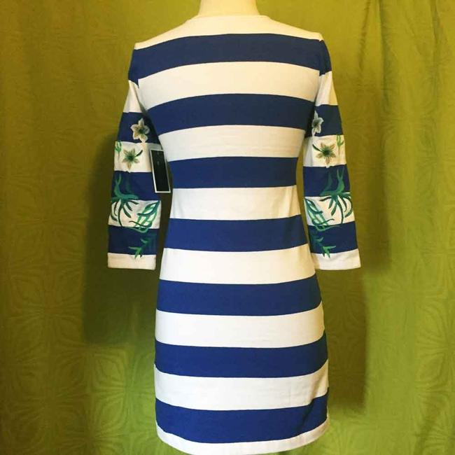 Juicy Couture short dress Blue Striped Embroidered 3/4 Sleeves Lace Up on Tradesy Image 2