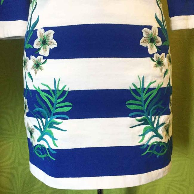 Juicy Couture short dress Blue Striped Embroidered 3/4 Sleeves Lace Up on Tradesy Image 3