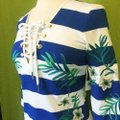 Juicy Couture short dress Blue Striped Embroidered 3/4 Sleeves Lace Up on Tradesy Image 4